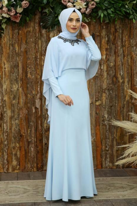 BABY BLUE EVENING DRESS