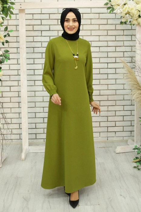 OIL GREEN DRESS
