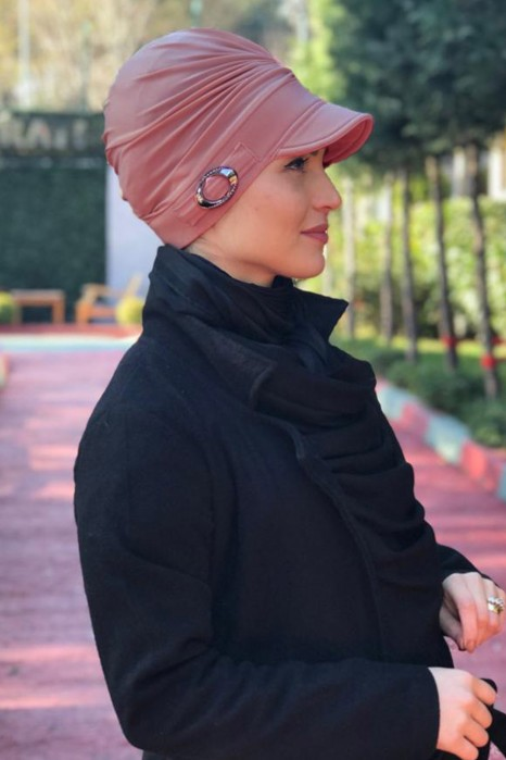 ROSE COLOR TURBAN HIJAB