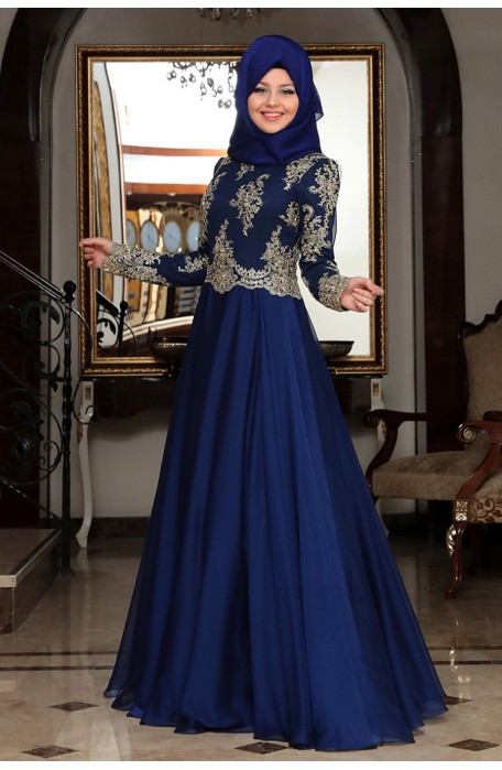 Belis Blue Evening Dress