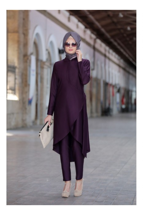 Plum Tunic And Pant Suit