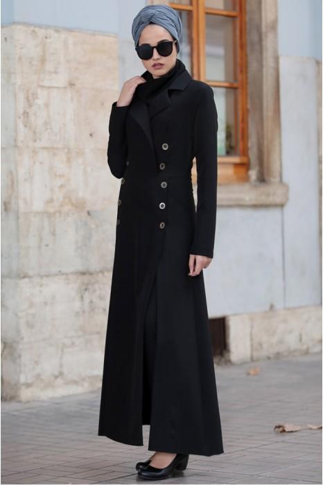 Black Coat And Pant Suit