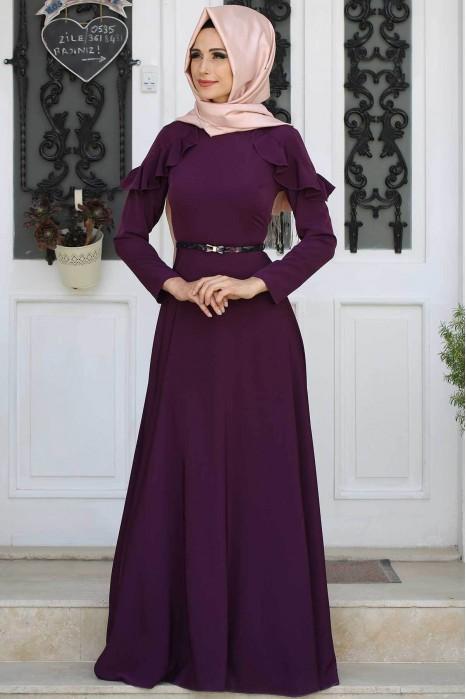 Plum Evening Dress