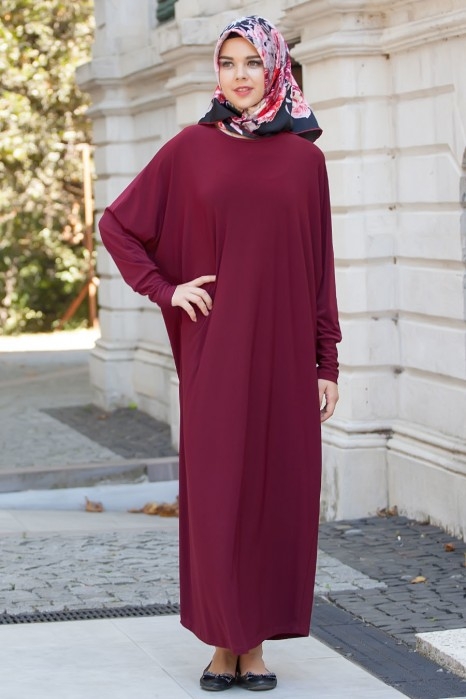 Claret Red Standard Size Dress