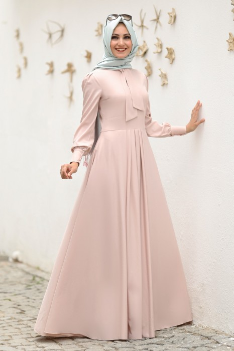 Powder Pink Color Dress