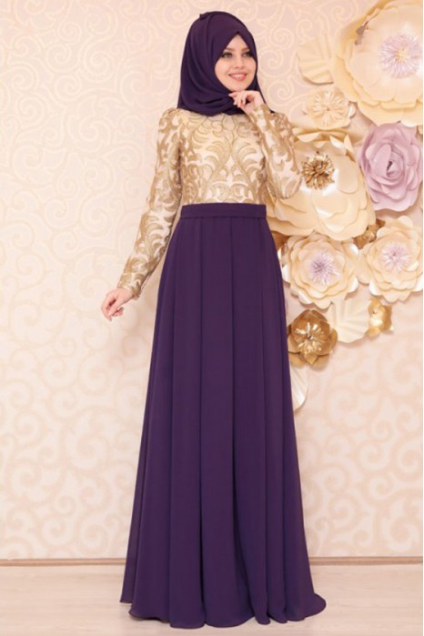 PURPLE EVENING DRESS