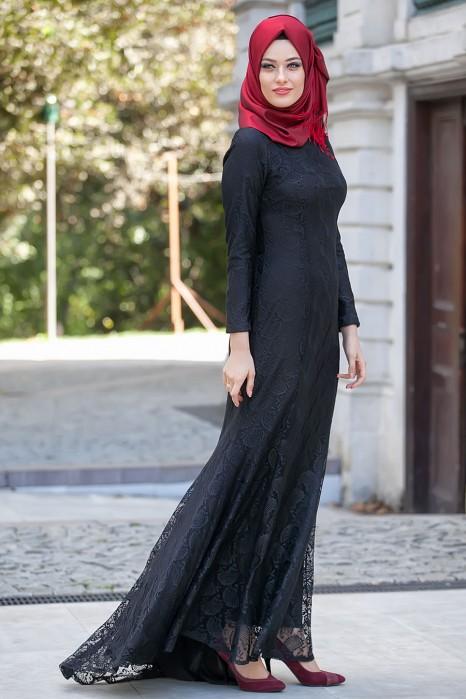 LACED BLACK DRESS