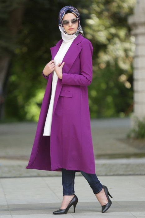 PLUM COLOR COAT