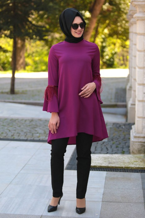 hijab Just Trendy Girls Source · FUCHSIA TUNIC .