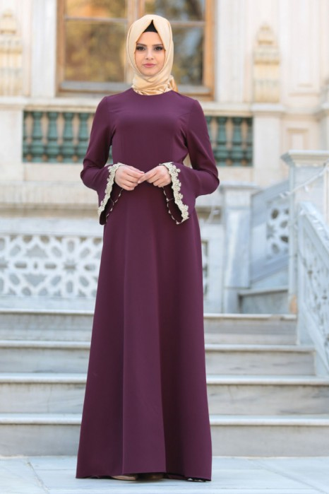 PLUM COLOR DRESS