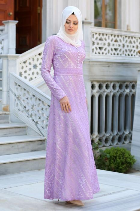 LACED LILA DRESS