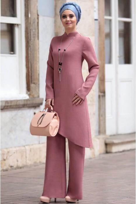 Linen suit - Rose