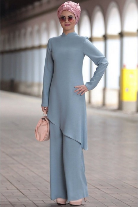 Linen suit - Blue