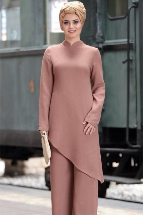 Linen suit - Pink
