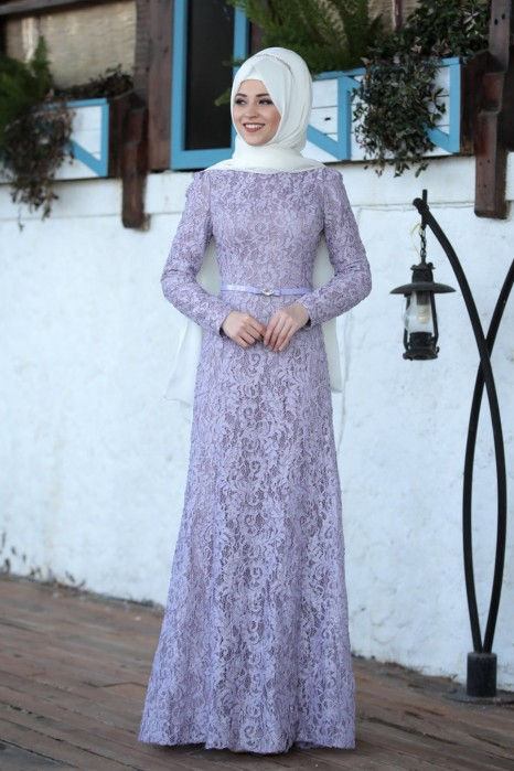 LILA EVENING DRESS