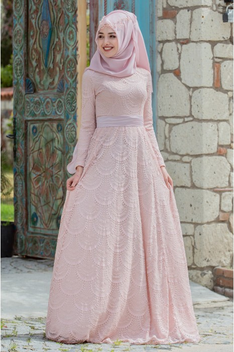 POWDER PINK EVENING DRESS