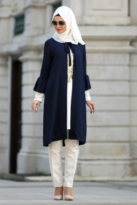 NAVY BLUE TUNIC AND CARDIGAN