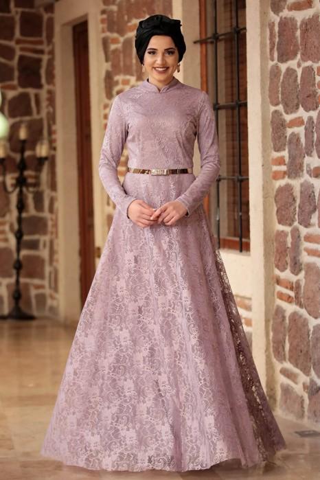 ROSE COLOR EVENING DRESS