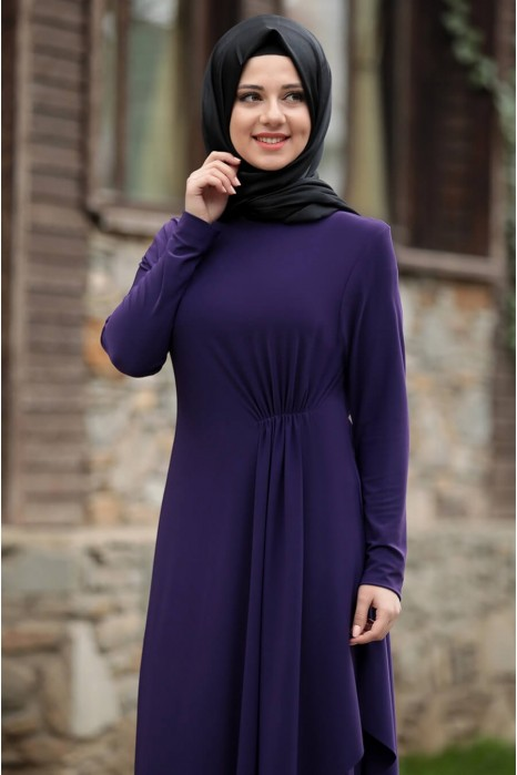 PURPLE TUNIC AND PANT SUIT