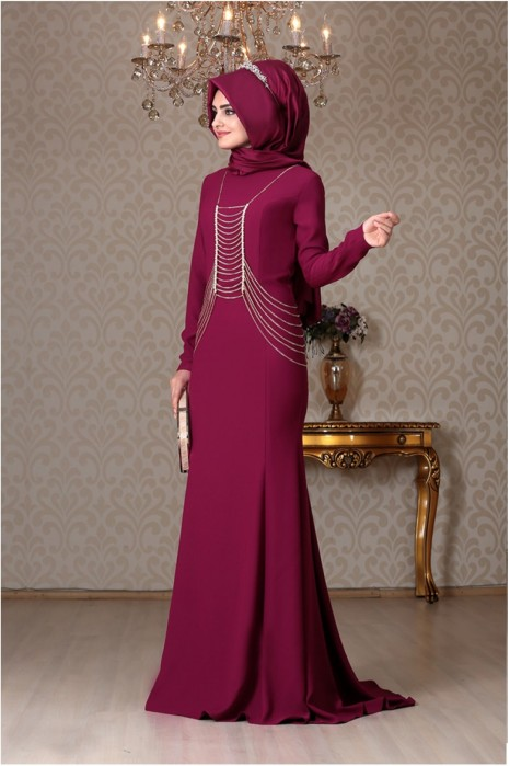 PLUM EVENING DRESS