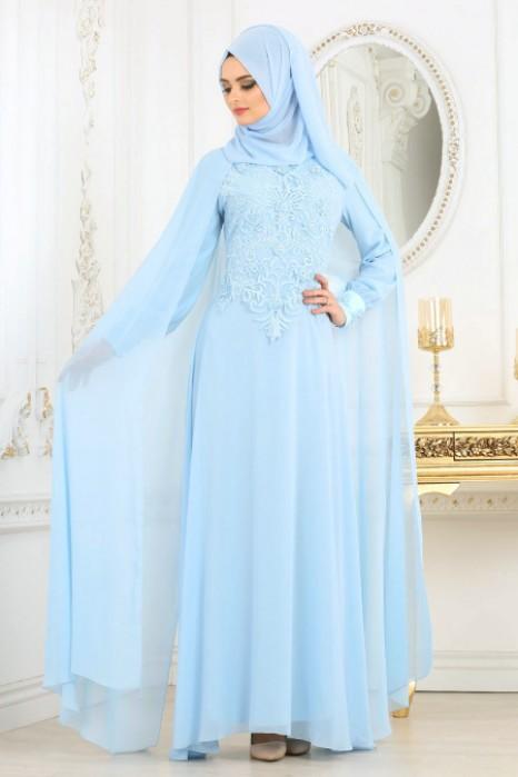 BLUE EVENING DRESS