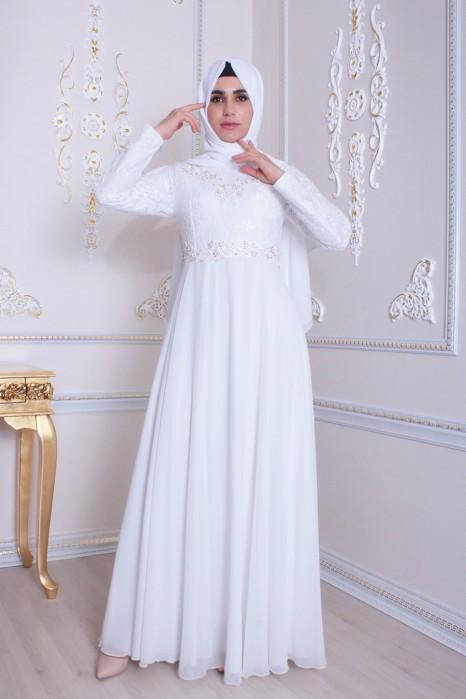 Ecru Evening Dress