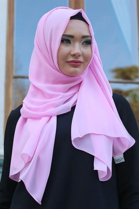 Powder Pink Chiffon Shawl