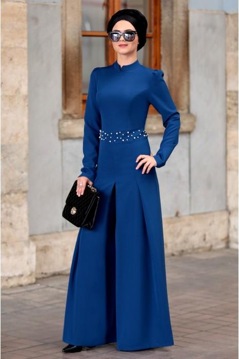 Sax Blue Jumpsuits