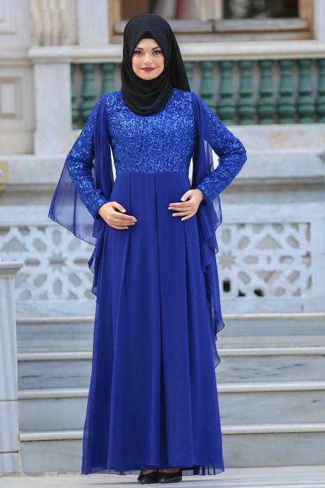 SAX BLUE EVENING DRESS