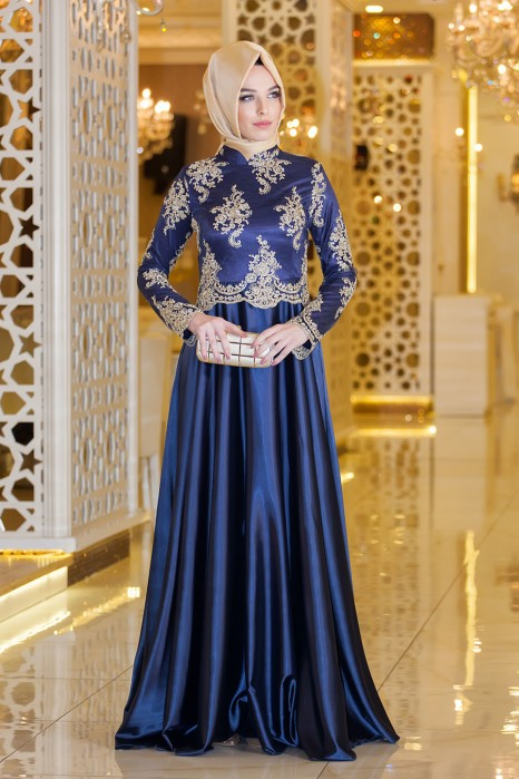SAX BLUE EVENING DRESS