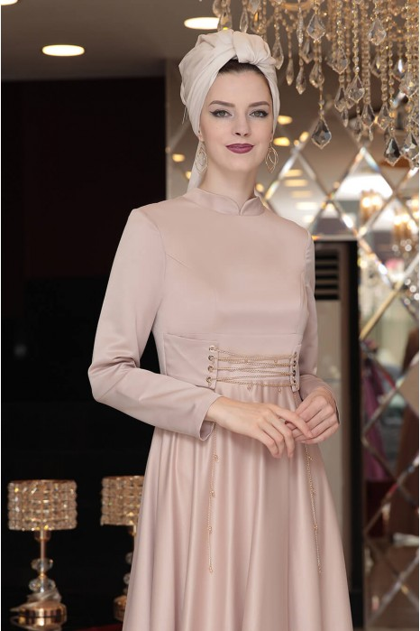 VISON COLOR EVENING DRESS