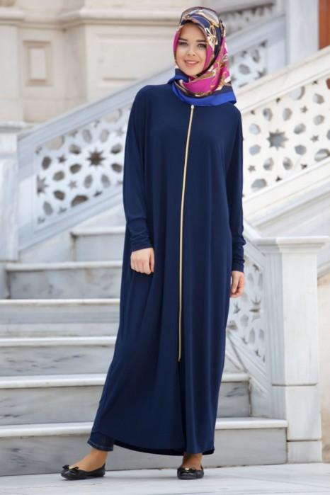 Navy Blue Standard Size Abaya