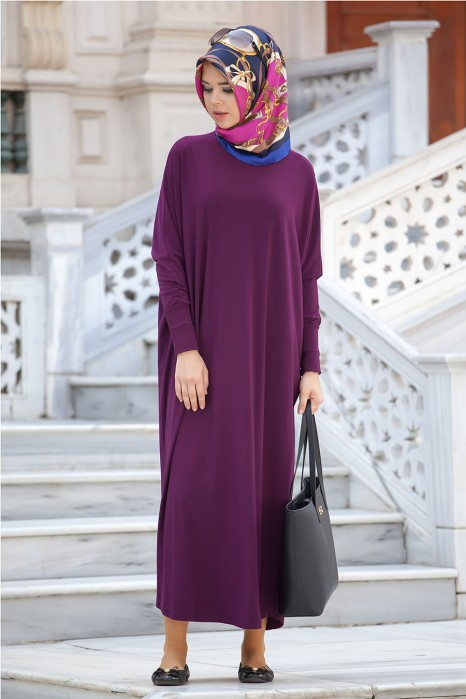 Plum Color Standard Size Dress