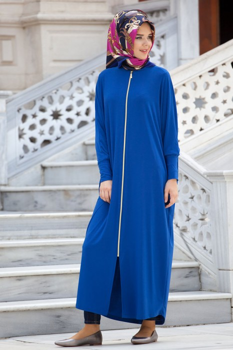 Sax Blue Standart Size Abaya