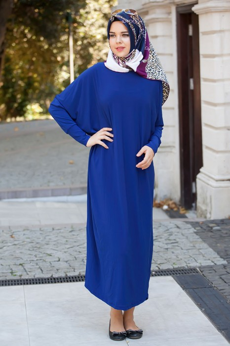 Sax Blue Standard Size Dress