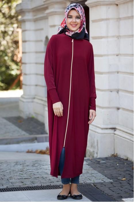Claret Red Standart Size Abaya