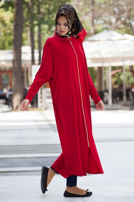 Red Standart Size Abaya