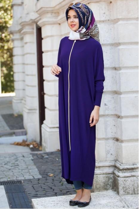 Purple  Standart Size Abaya