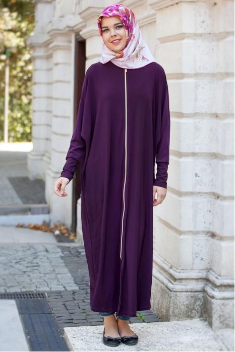 Plum  Standart Size Abaya