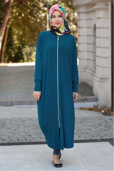 Petroleum Blue Standart Size Abaya