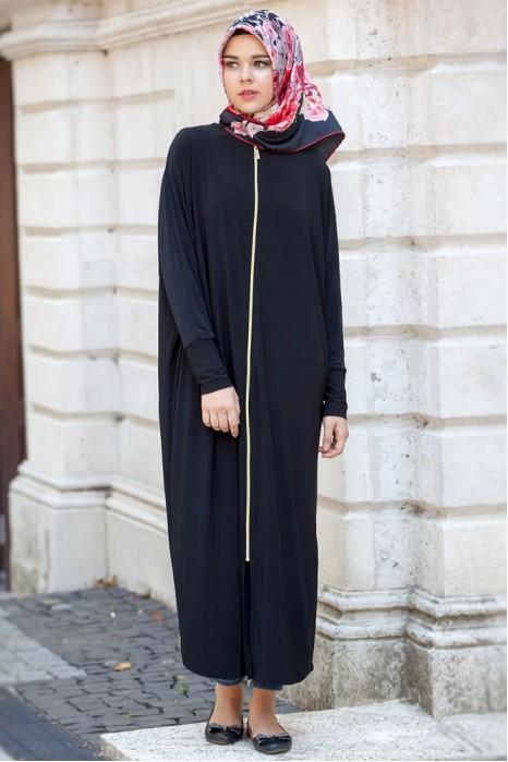Black Standart Size Abaya