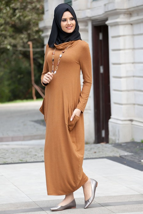 Camel Color Dress