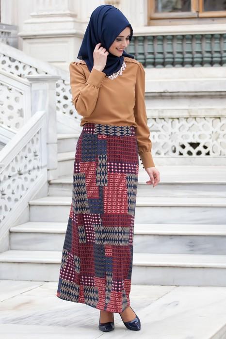Claret Red Skirt
