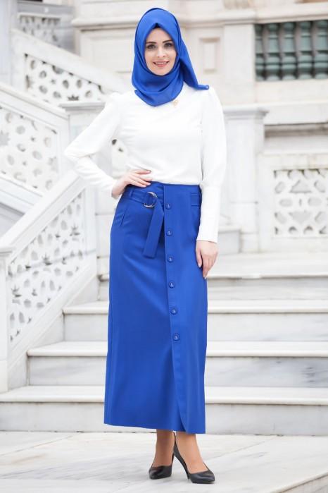 Sax Blue Skirt