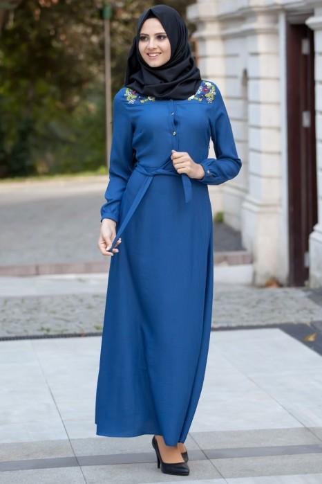 Petroleum Blue Dress