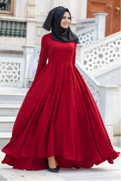 Claret Red Dress