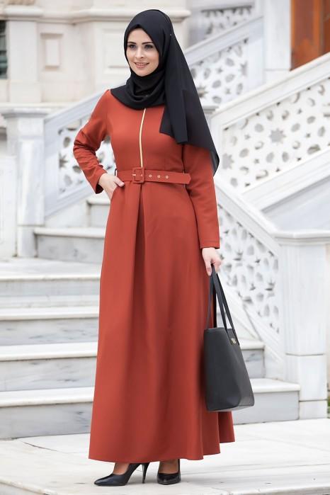 Brick Color Dress
