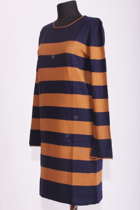 Mustard/navy Blue Tunic