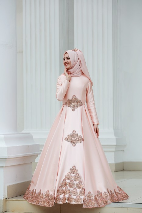Powder Pink Exclusive Evening Dress