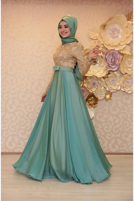 Mint Evening Dress
